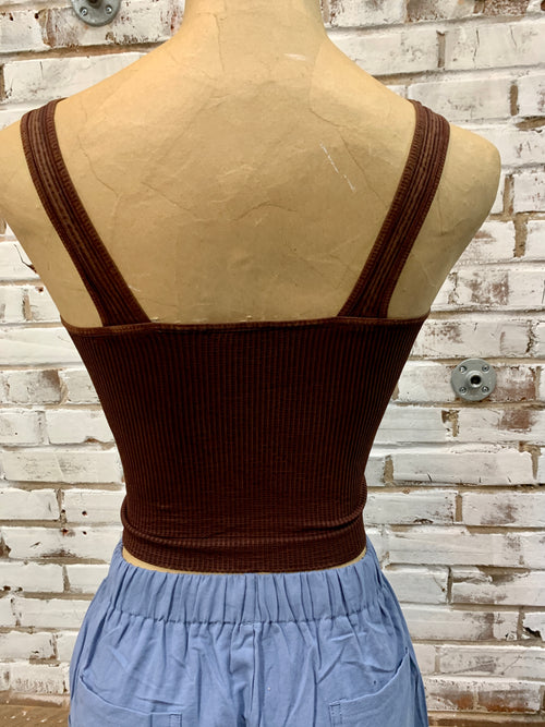 Chelsea Crop Tank in Vintage Chocolate