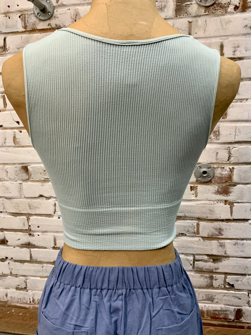 Tera Crop Top in Soft Blue