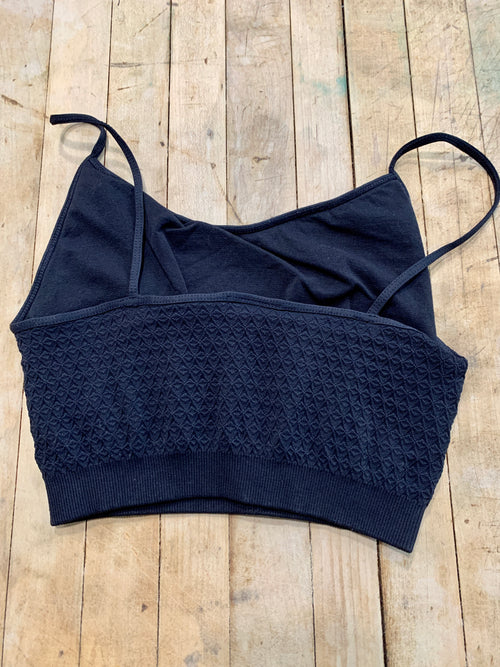 Lisa Knit Bralette in Black