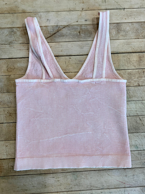 Chelsea Crop Tank in Vintage Peach