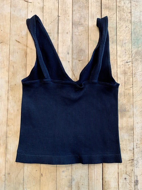 Chelsea Crop Tank in Black