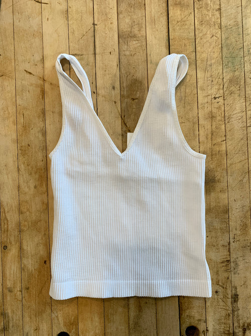 Chelsea Crop Tank in White