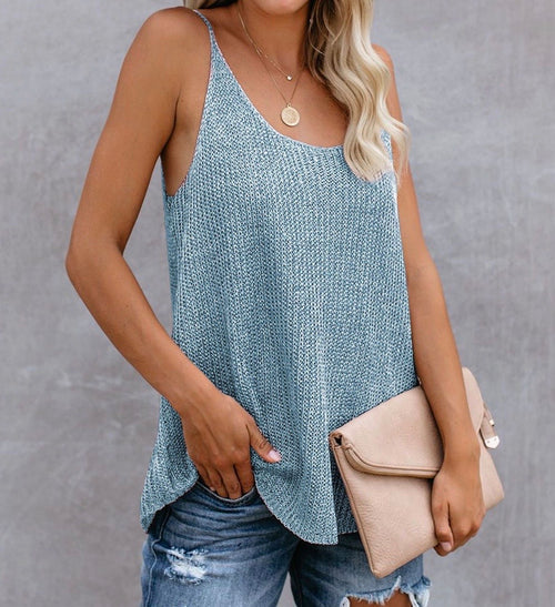 Taylor Tank Top in Baby Blue