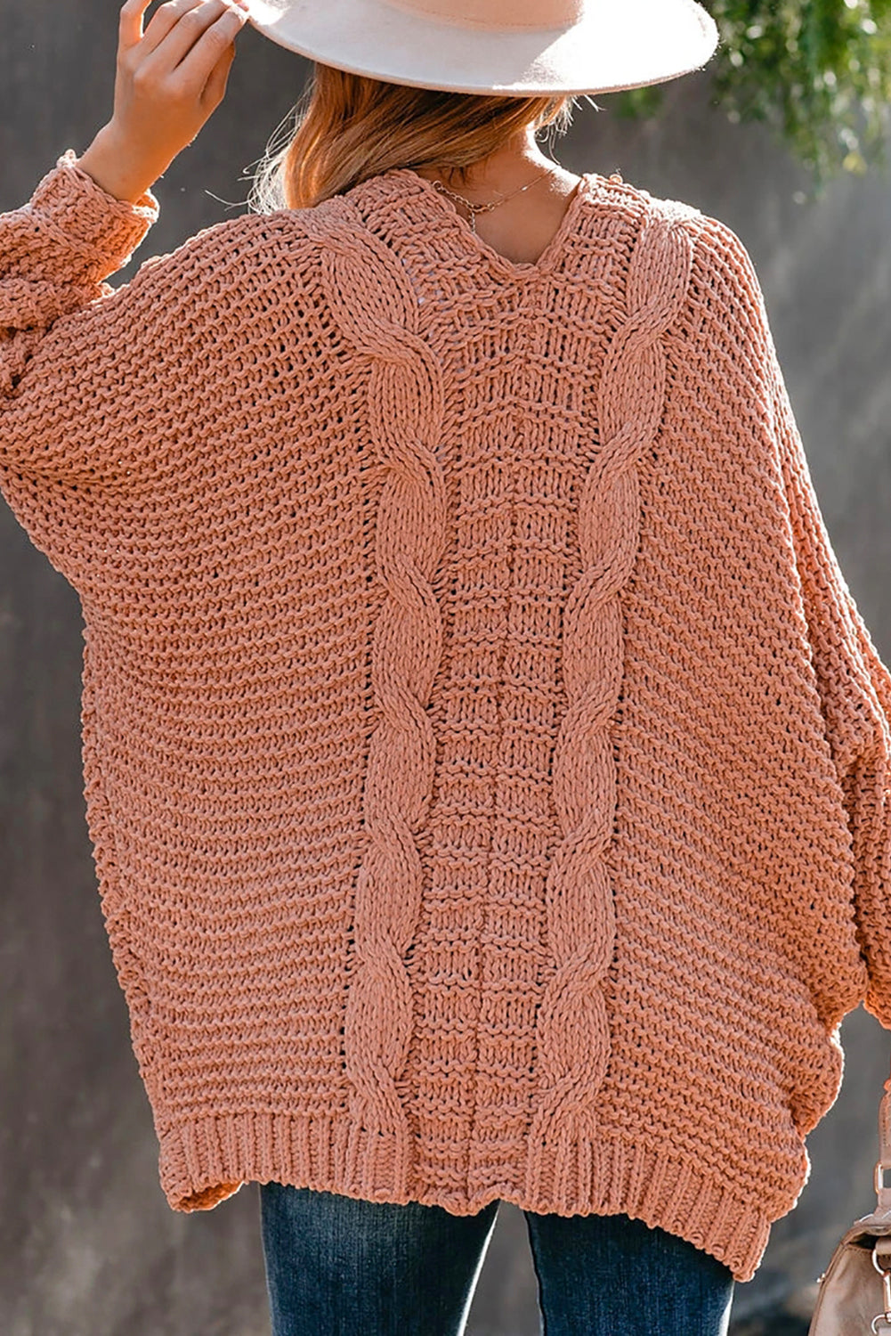 Carrington Cardigan in Muted Coral