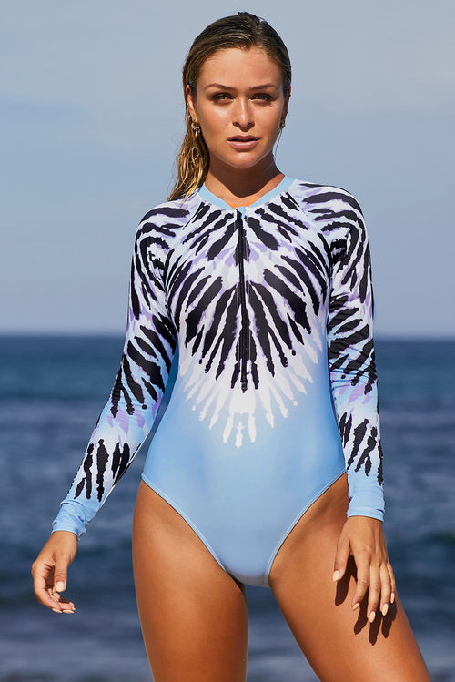 Zara Long Sleeve One Piece Swimsuit