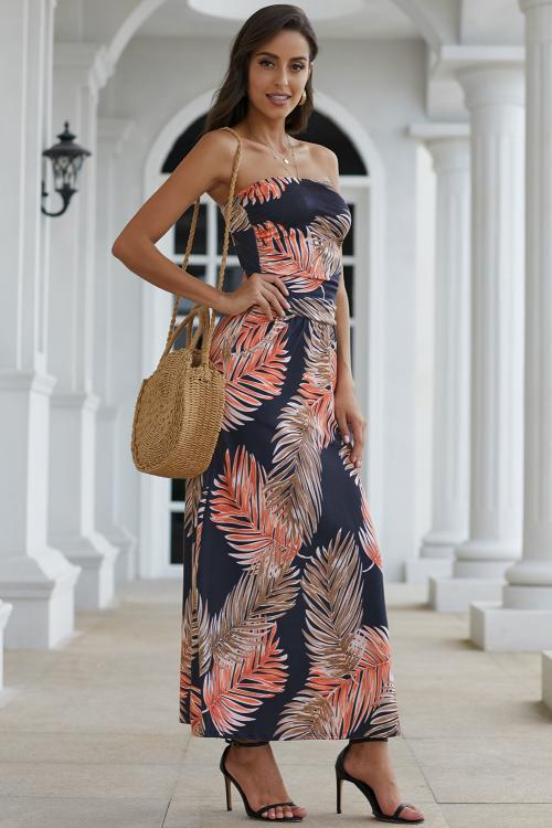 Amber Maxi in Palms Print