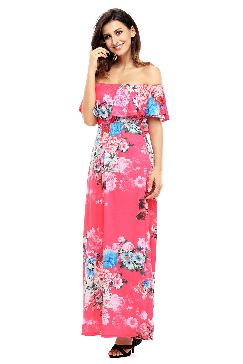 Previ Floral  Maxi in Rose