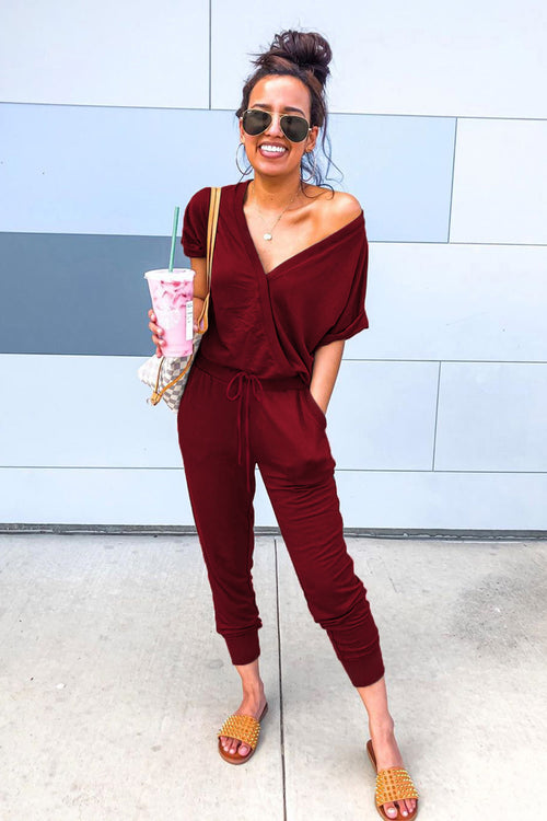 Talley Jumpsuit in Deep Red