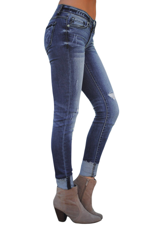 Joey Distressed Skinny Stretch Jeans