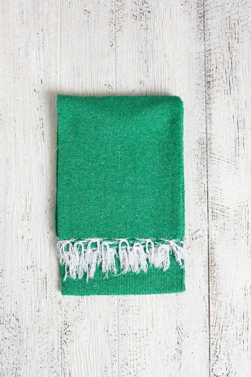 Green Solid Blanket