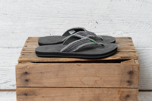 Fraid Not Charcoal Men's Sanuk Flip Flops