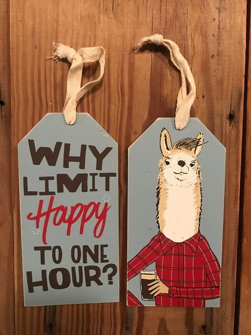 Why Limit Happy Hour Bottle Tag