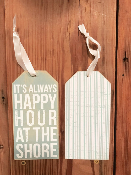 Happy Hour At Shore Bottle Tag