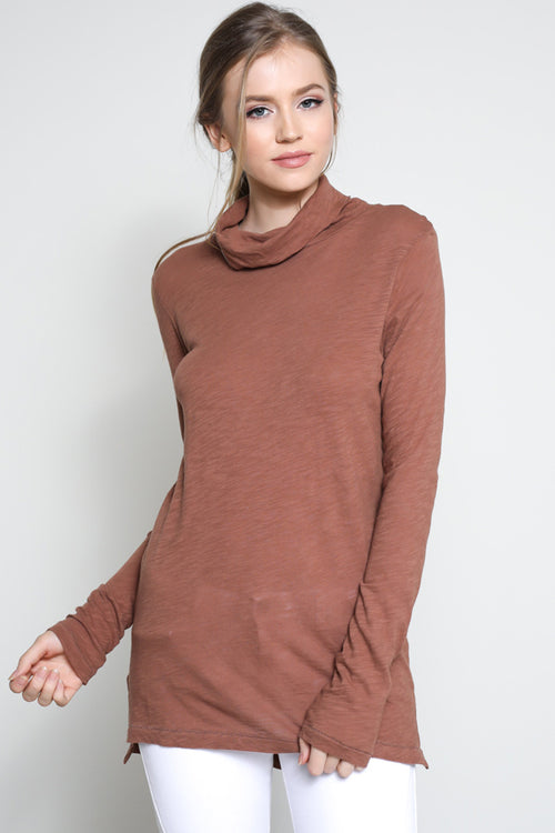 Perri Turtleneck in Mocha