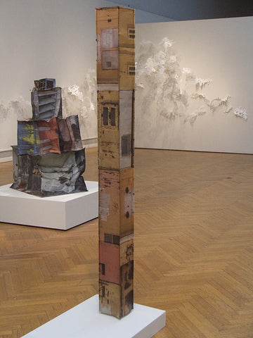 Observation Tower and Building Blocks, Photo Sculptures by Kristin Doner