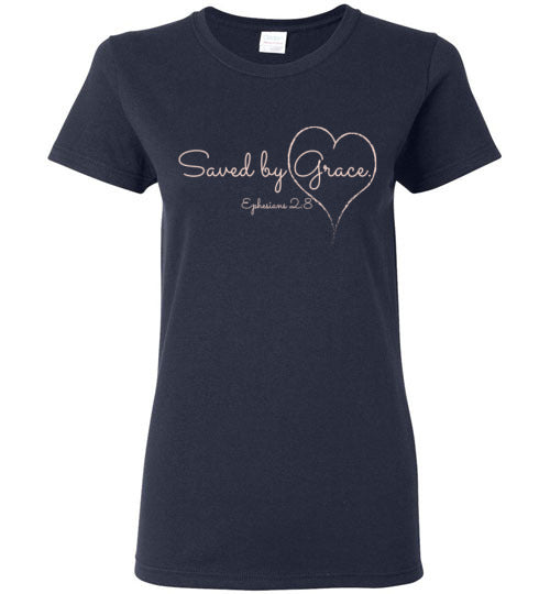 Saved by Grace, Women's T-shirt