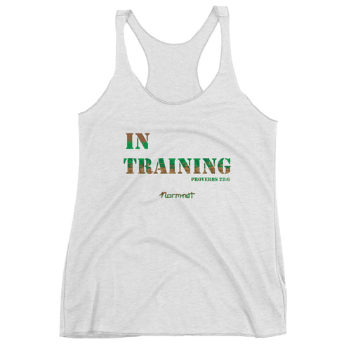 In Training, Women's Racerback Tank