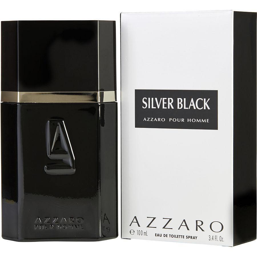 Azzaro Silver Black Eau De Toilette Spray for Men - AromaFi.com
