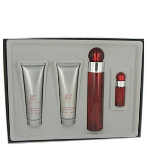 Perry Ellis 360 Red Eau De Toilette Spray for Men Gift Set - AromaFi.com