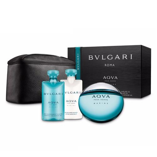 Bvlgari Aqua Eau De Toilette Spray for Men Gift Set - AromaFi.com