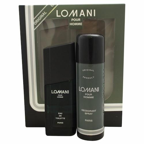Lomani Pour Homme Eau De Toilette Spray for Men Gift Set - AromaFi.com