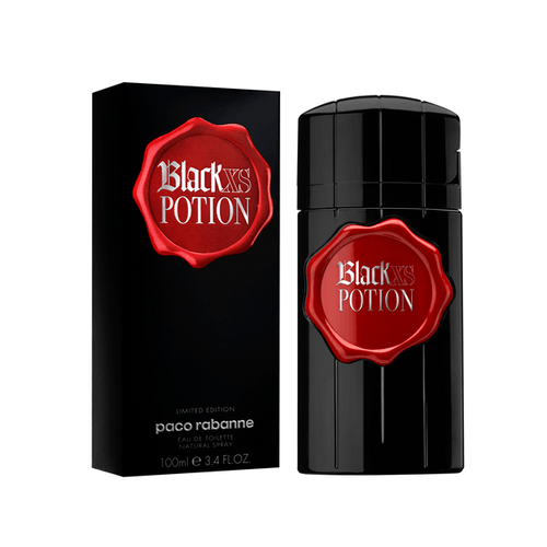 Black XS Potion Eau De Toilette Spray for Men - AromaFi.com