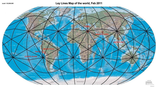 Ley Lines Arizona Map.An Invisible Grid Stretches Across Our Planet What It Does Will
