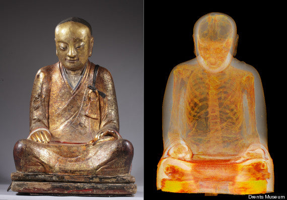 CT Scan Reveals Mummified Monk Inside Buddha Statue