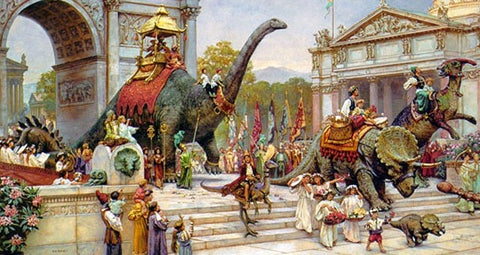 Image result for humans and dinosaurs together