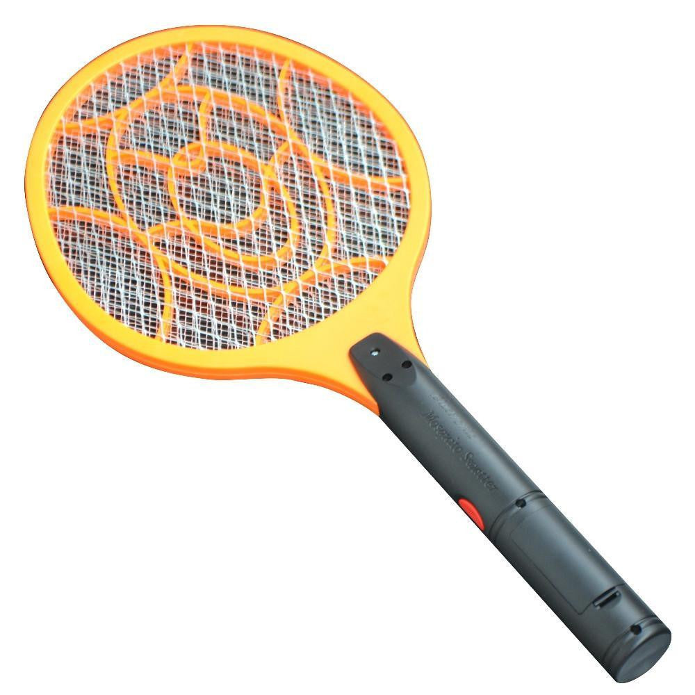 3 Layer Net Dry Cell Hand Racket Electric Bug Zapper Swatter