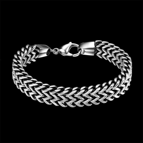 Stainless Steel Double Side Snake Chain Bracelet Ancient