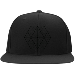 Sacred Geometry Black on Black Hat - Blue Frog Treasures