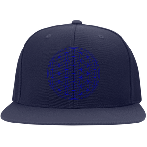 Sacred Geometry Blue on Blue Hat - Blue Frog Treasures