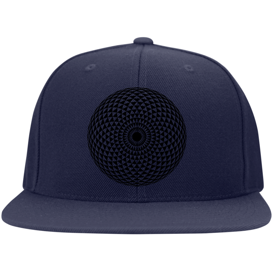 Sacred Geometry 2 Black on Black Hat - Blue Frog Treasures