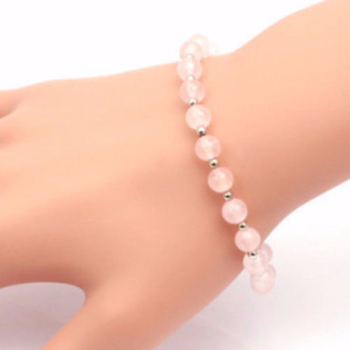 Rose Quartz Bracelet - Blue Frog Treasures