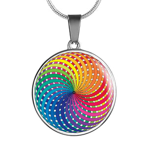 Rainbow Geometry Necklace - Blue Frog Treasures