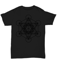 Load image into Gallery viewer, Sacred Geometry Black on Black T Shirt - Blue Frog Treasures