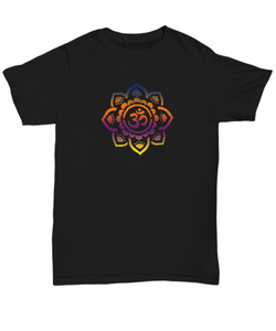 Om Mandala T Shirt - Blue Frog Treasures