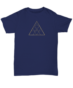 Geometry Triangles T-shirt - Blue Frog Treasures