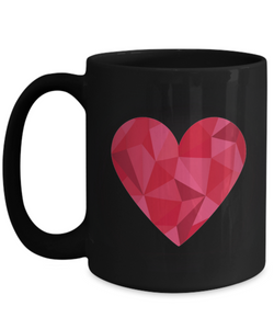 Geometry Heart Red Mug - Blue Frog Treasures
