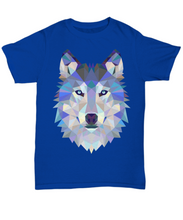 Load image into Gallery viewer, Geometry Wolf T Shirt - Blue Frog Treasures