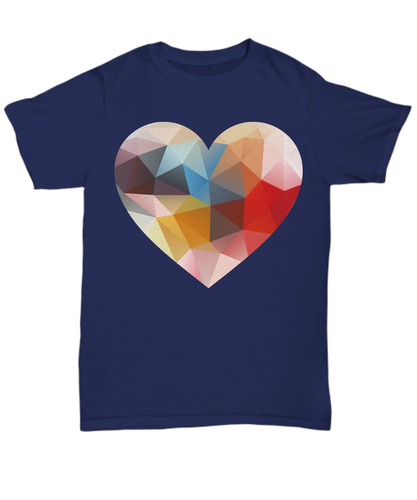 Geometry Heart T Shirt - Blue Frog Treasures