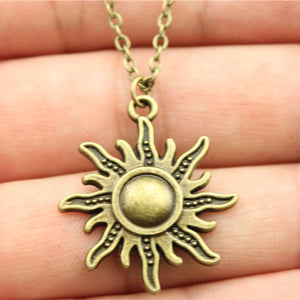 Sun Pendant Necklace - Blue Frog Treasures