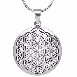 Flower of Life II Pendant Necklace - Blue Frog Treasures