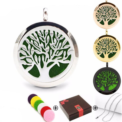 Tree of Life I Essential Oil Diffuser Locket - Blue Frog Treasures