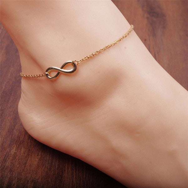 Infinity Symbol Anklet - Blue Frog Treasures