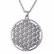 Load image into Gallery viewer, Flower of Life I Pendant Necklace - Blue Frog Treasures