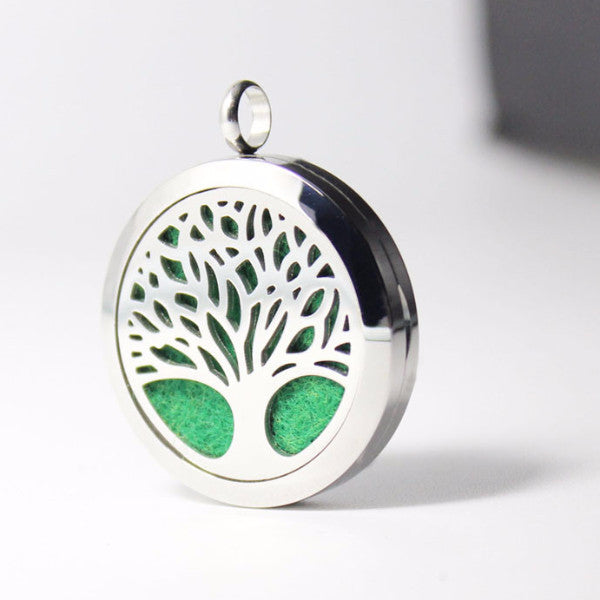 Tree of Life II Essential Oil Diffuser Locket - Blue Frog Treasures