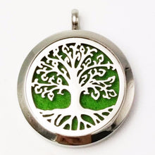 Load image into Gallery viewer, Tree of Life III Essential Oil Diffuser Locket - Blue Frog Treasures