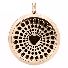 Load image into Gallery viewer, Heart Chakra Essential Oil Diffuser Locket - Blue Frog Treasures